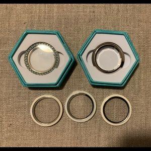 Assorted Origami Owl jewelry